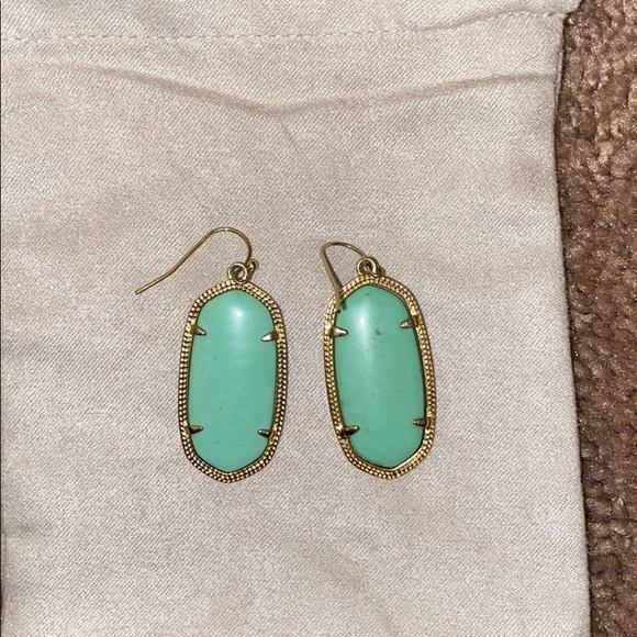 Mint Green Kendra Scott Earrings